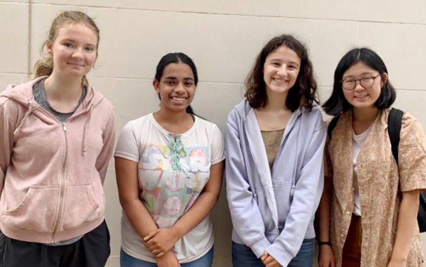 From left R Megan Gill, Radhika Iyer, Olympia Adipa, Vivien Wu, St Paul's Girls School