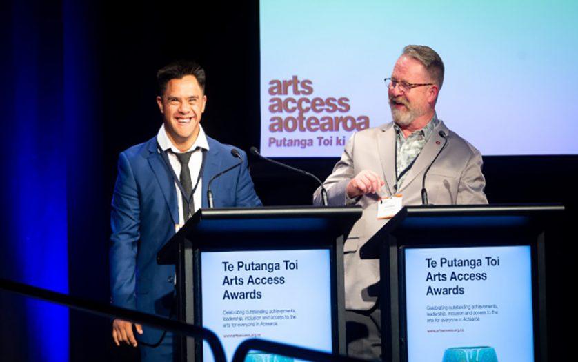 Actor Jacob Dombroski, one of the MCs with Richard Benge