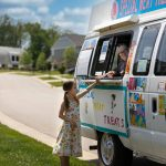 Mary Kate selling ice cream