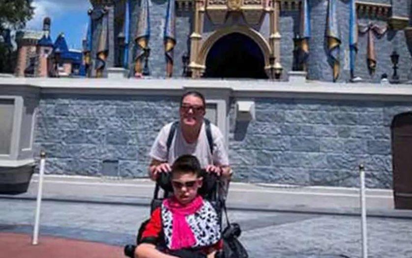 Tricia and Mason at Walt Disney World's Magic Kingdom park