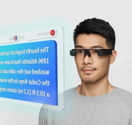 Person wearing AR glasses