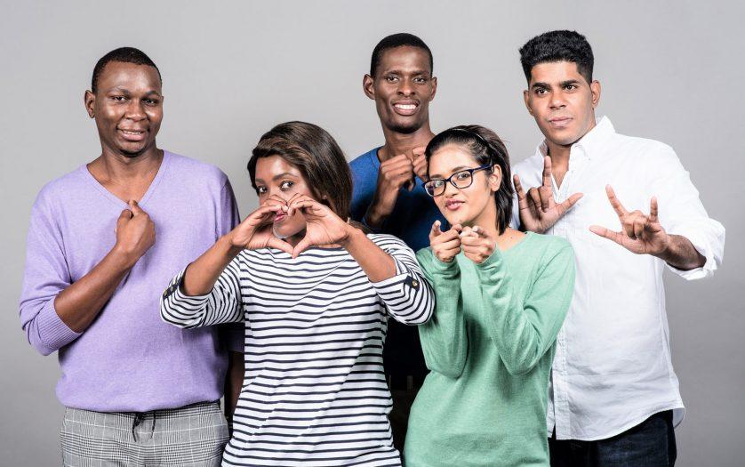 Deaf learners pictured (L-R) Njabulo Ngubo, Siziwe Mthethwa, Nkanyiso Bhengu, Shanel Gareeb and Adrian Moodley.