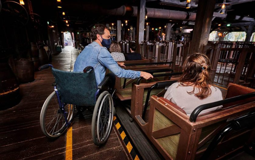 Wheelchair users with family at Disneyland