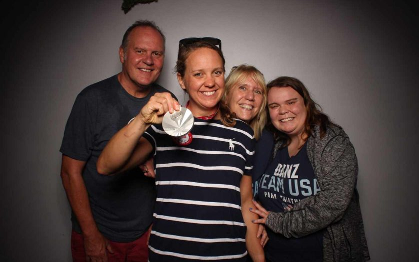 Hailey Danz 2020 U.S. Paralympic silver medalist with family
